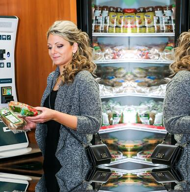 Woman shopping in Micro Market