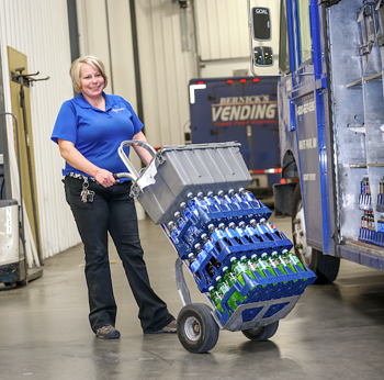 Woman-hauling-beverages